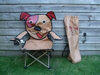 Childrens Patch the Dog Fun Folding Camping Chair