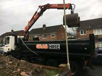 Grab hire,muck away and site clearance