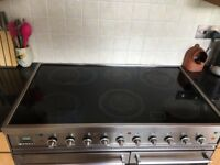Britannia Electric Range Cooker - twin oven, ceramic hob, stainless steel