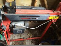 Clarke log splitter with stand for sale
