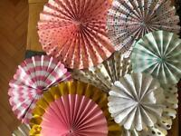 15 pink and pastel paper fans perfect for wedding