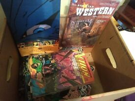 Box of Comic Books, Batman, All Star Western, Terminator etc