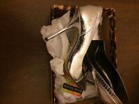 River Island Silver Metallic Heels Size 7