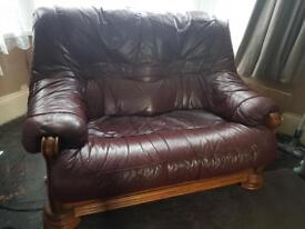 2 seater Pleather sofa