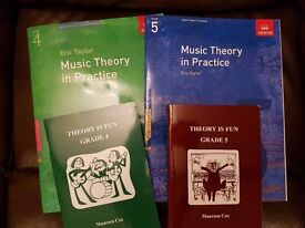 ABRSM Music Theory Grades 4 & 5 workbooks and past papers / 16 books in all