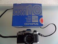 Olympus OM10 & Voigtlander Brilliant Cameras for sale