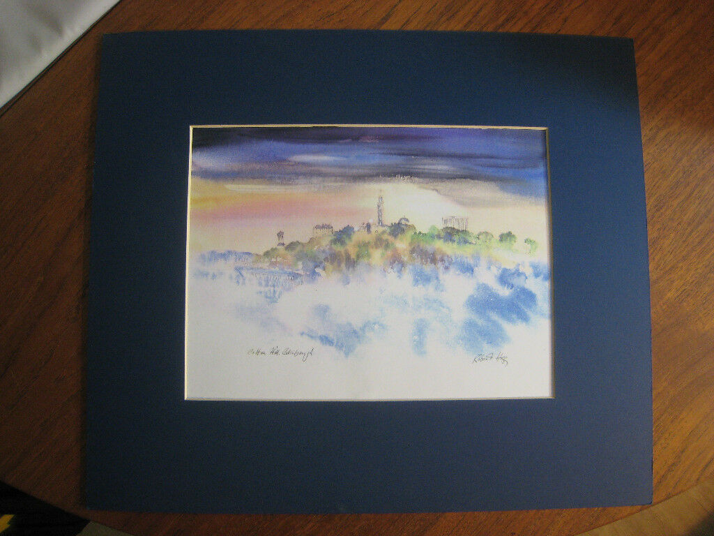 lovely mounted art print. Calton Hill Edinburgh