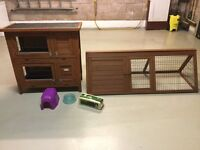 2 Rabbit Hutches or Guinea Pig Hutches + Extras