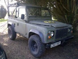 Ex- Military Land Rover Defender.