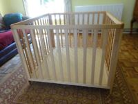Large sturdy wooden Baby Dan play pen in VGC. 2 adjustable floor levels. £65 ovno. Dismanteled.