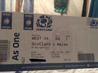 6 Nations Scotland V Wales @ Murrayfield Tickets