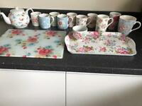 Cath Kidston tea cup and mug, collection teapot tray