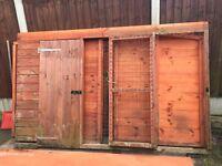 Dog day kennel (dismantled)