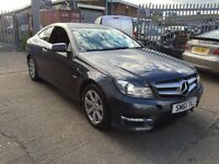 2012 MERCEDES-BENZ C220 CDI AUTO AMG SPORT COUPE ED125 SALVAGE LIGHT DAMAGED REPAIRABLE NT E220 C250