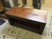 Coffee table/tv stand solid mahogony wood