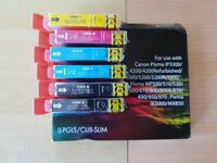 six assorted unopened canon printer cartridges for a mp600 etc other models shown in photo