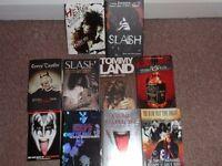 Rock books for Sale, Nikki Sixx, Corey Taylor etc