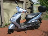 Yamaha 125 Scooter well maintained.Surplus to requirements.£700 ono
