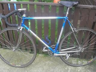 cbt italia retro/vintage italian racer road bike with mavic sup wheels brook saddle bargain !!!
