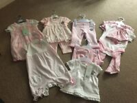 0-3 months Baby clothes Pink new with tags.