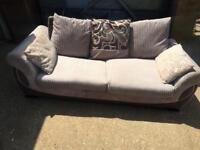 DFS jumbo cord beige 3 seater sofa