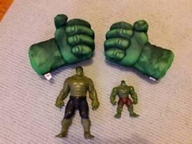 Hulk Figures and Smash Gloves