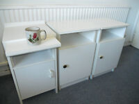Small White Bedside Tables - £10 each