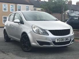 2008 ( 08 ) VAUXHALL CORSA SXi 1.2 PETROL*2 KEYS* 5 DOORS SILVER HATCHBACK ( FINANCE AVAILABLE )