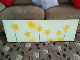 Canvas picture of daffodils
