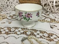 REDUCED Vintage Royal Victoria 1801 bone china England 22k Footed Desert bowl