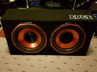 Edge twin subwoofer built in amp