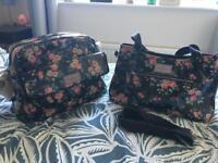 Cath Kidston Changing bag & matching handbag - black floral