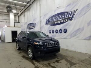 2016 Jeep Cherokee North True Blue Pearl W/ Sunroof, Htd Cloth