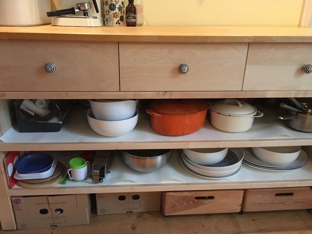 Ikea varde kitchen island base cabinet upcycled knobs oiled worktop great way to increase for 50cm kitchen cabinets