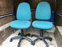 X 2 swivel Chairs