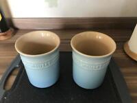 Le Creuset Stoneware Storage Jars - blue