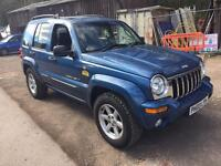 2003 JEEP CHEROKEE LIMITED 2.8 CRD AUTO BLUE