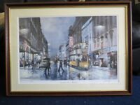 """Signed Framed Print of """"Sauchiehall Street - Reflections"""""""