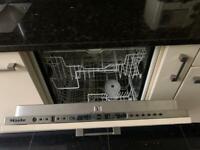 Integrated Miele dishwasher
