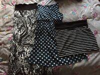 Maternity dresses/skirt size 10