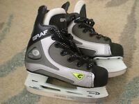 BRAND NEW ICE HOCKEY SKATES. Child size UK11. Unisex. In original box. With blade guards. RRP £62.99