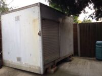 Aluminium and GRP box body ideal for storage ( FREE)