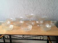 Wedding: vintage glass bowls for sweetie table