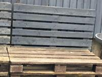 Pallets used as a seating area in my garden