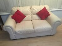 Italian leather ivory sofa - qualify expensive piece