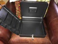 Petty cash money box with key