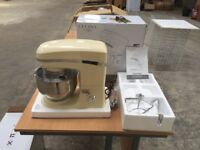 Cucina stylish 5-litre stand mixer in cream