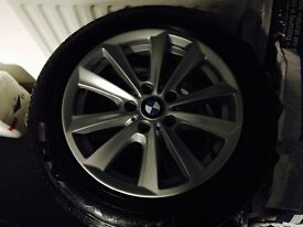 "Unmarked genuine 17"" BMW Alloys with 4 good runflats"