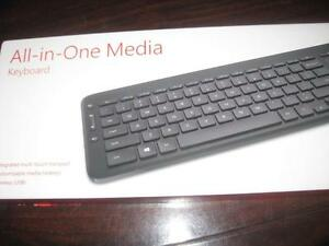 Microsoft Wireless Media Keyboard and Mouse pad. Universal TV Remote. Connect PC / Macbook Computer. Android TV Box. NEW