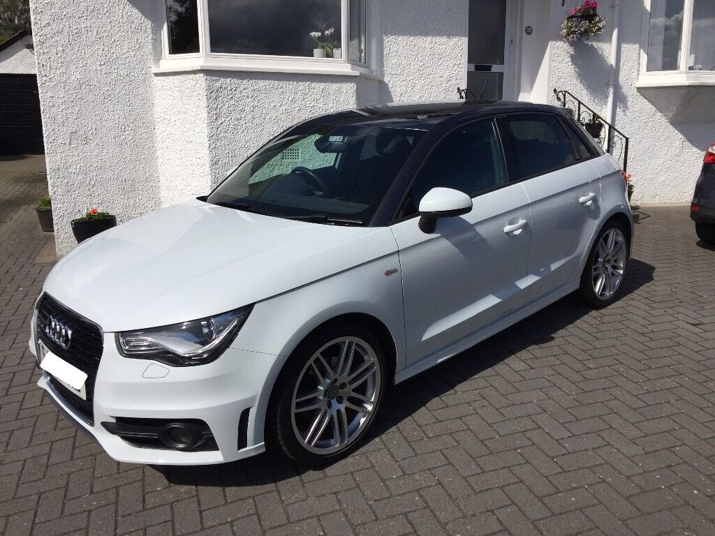 audi a1 s line sportback 1 4 tfsi 63 plate metallic white with grey roof led lights 18 rs4. Black Bedroom Furniture Sets. Home Design Ideas